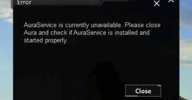 AURA service is currently unavailable